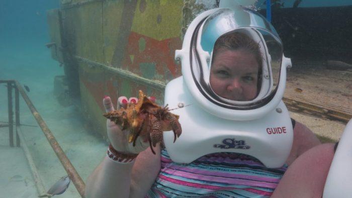 underwater helmet dive in Aruba