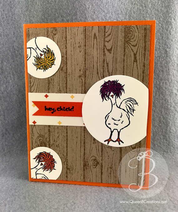Stampin' Up! 2017 Sale A Bration Hey Chick handmade card by Queen B Creations