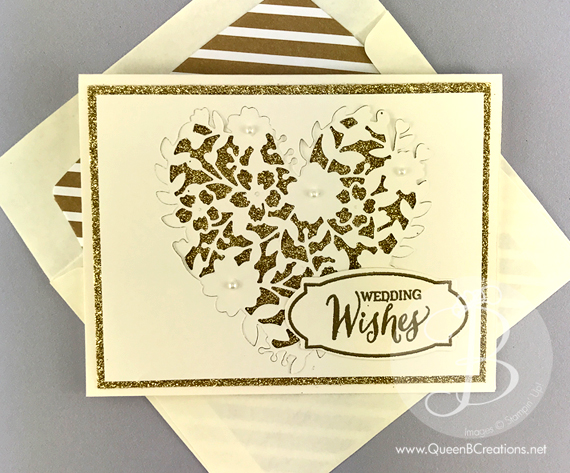 Stampin' Up! Bloomin' Love Gold Wedding Card by Queen B Creations