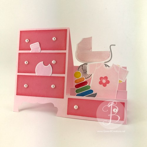 Stampin' Up! Something for Baby - Baby Dresser card by Queen B Creations