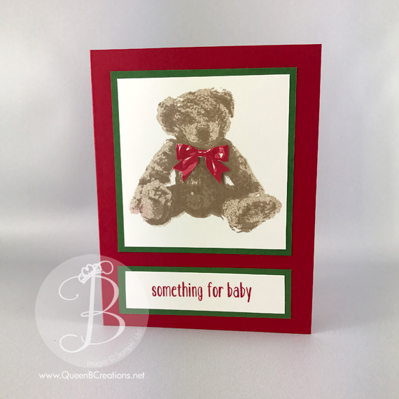 Stampin' Up! Christmas card using Baby Bear stamp set by Queen B Creations for the Global Stamping Friends Blog Hop