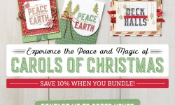 Carols of Christmas pre release of the 2017 Stampin' Up! holiday catalog