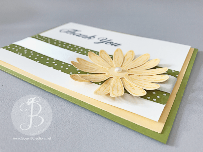 Stampin' Up! Daisy Delight Thank You card by Queen B Creations