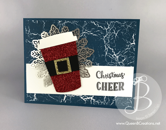 Coffee Christmas Cards.Coffee Cafe Santa Suit Christmas Card Queen B Creations