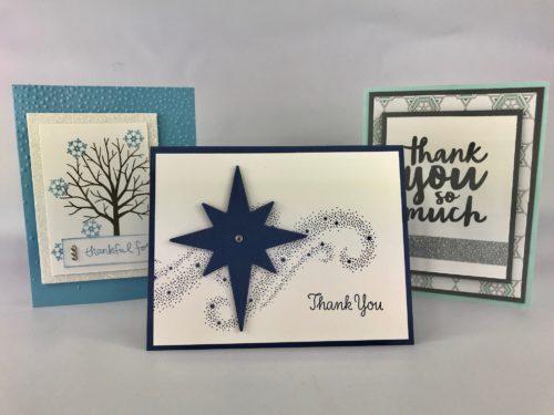 Thank you card class by Lisa Ann Bernard of Queen B Creations