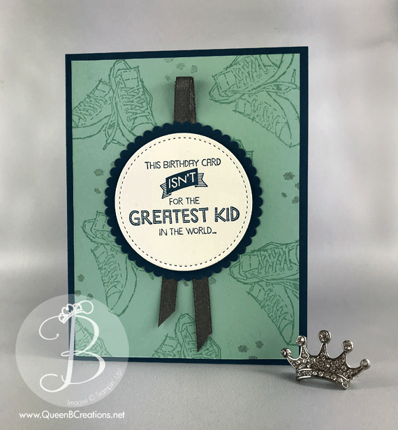 Stampin' Up! kids handmade birthday card made using Sale-A-Bration 2018 Epic Celebrations and Annual Catalog Five For All stamp sets by Lisa Ann Bernard of Queen B Creations