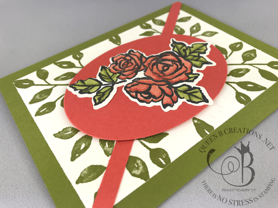 Handmade card made with Petal Palette from Stampin' Up! by Lisa Ann Bernard of Queen B Creations
