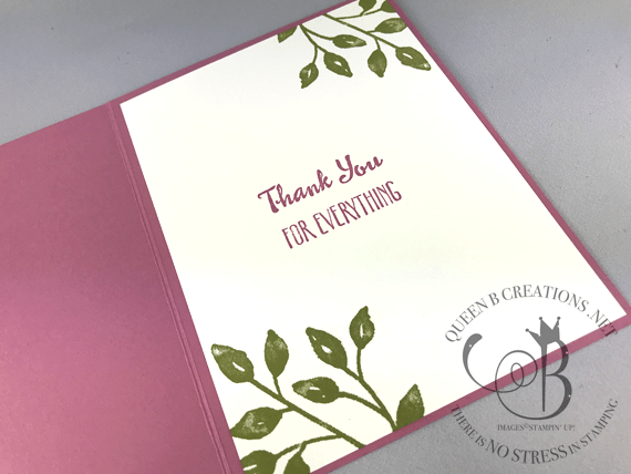 Stampin' Up! Petal Palette Thank You Roses handmade card by Lisa Ann Bernard of Queen B Creations