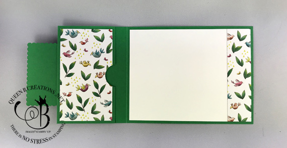 Stampin' Up! Animal Outing gift card holder fancy fold handmade card by Lisa Ann Bernard of Queen B Creations