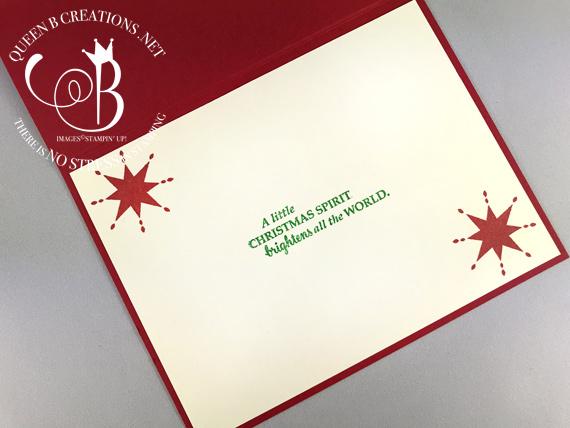 Stampin' Up! Cookie Cutter Christmas handmade reindeer card made by Lisa Ann Bernard of Queen B Creations