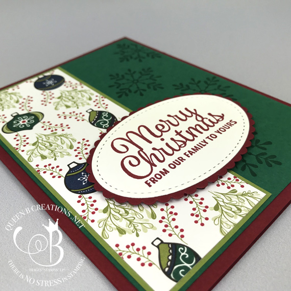 Stampin' Up! Snowflake Sentiments handmade Christmas card by Lisa Ann Bernard of Queen B Creations