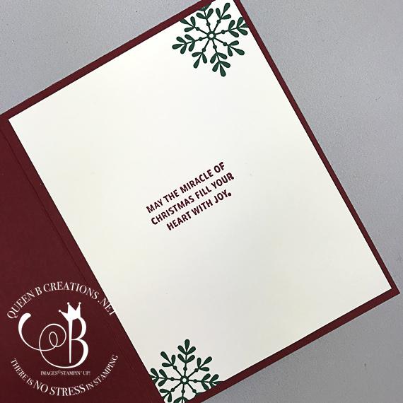 Stampin' Up! Snowflake Sentiments handmade Christmas card by Lisa Ann Bernard of Queen B Creations