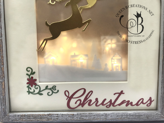 Stampin' Up! Dashing Deer Merry Christmas Home Decor framed art by Lisa Ann Bernard of Queen B Creations