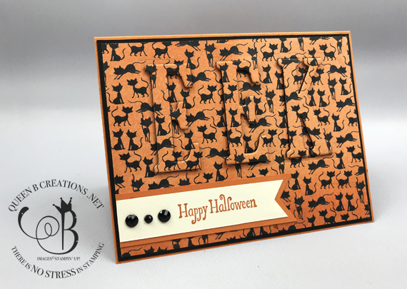 Toil & Trouble Eclipse Technique EEK Halloween card by Lisa Ann Bernard of Queen B Creations