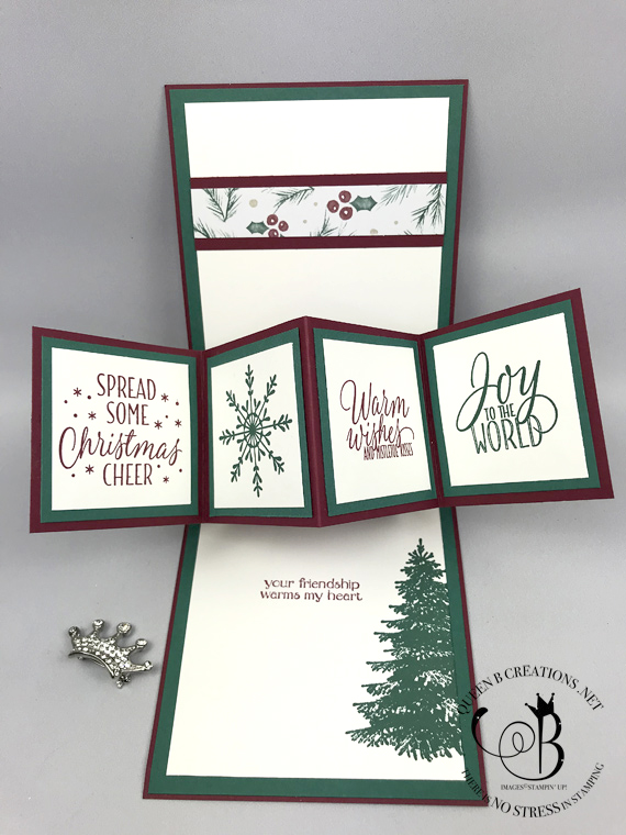 Stampin' Up! Twist and Pop Panel Card Tin of Tags and Winter Woods by Lisa Ann Bernard of Queen B Creations