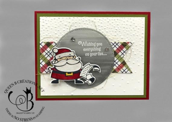 Stampin' Up! Santa's Signpost handmade Christmas card by Lisa Ann Bernard of Queen B Creations