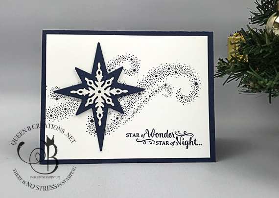Stampin' Up! Star of Light handmade Christmas card by Lisa Ann Bernard of Queen B Creations