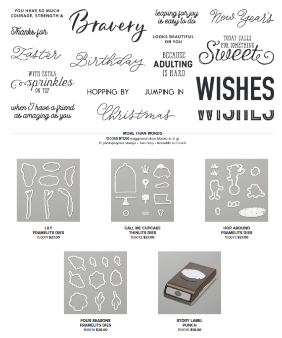 Stampin' Up! Sale-A-Bration Coordination 2019