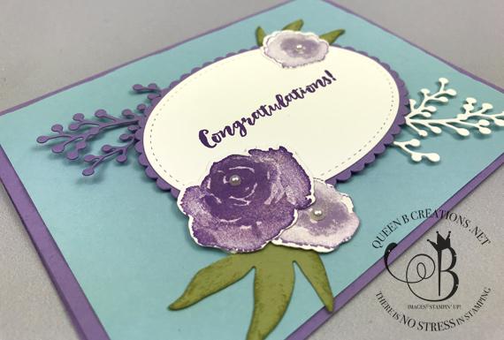 Stampin' Up! First Frost tufted TIEF handmade congratulations card by Lisa Ann Bernard of Queen B Creations