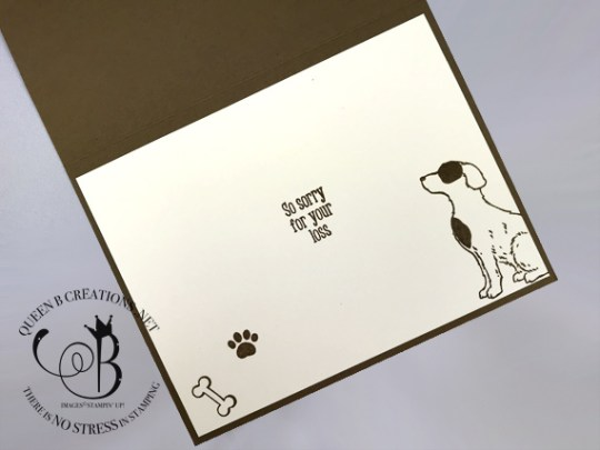 Stampin' Up! Happy Tails handmade dog sympathy card by Lisa Ann Bernard of Queen B Creations