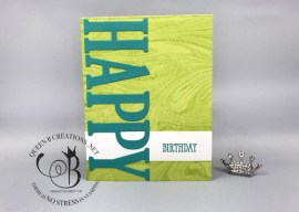 Large Letters Happy Birthday Card