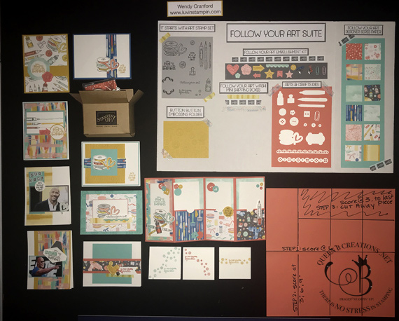 Stampin' Up! It Starts With Art Salt Lake City OnStage Display Board by Wendy Cranford