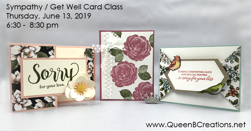 Sympathy / Get Well Card Class in Twin Falls, ID by Lisa Ann Bernard of Queen B Creations
