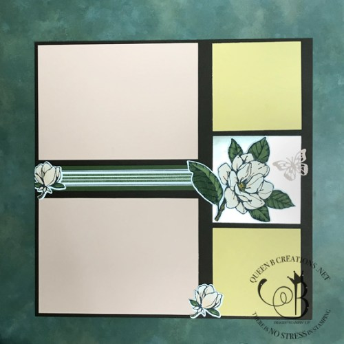 Stampin' Up! Good Morning Magnolia Spring Scrapbook layout by Lisa Ann Bernard of Queen B Creations