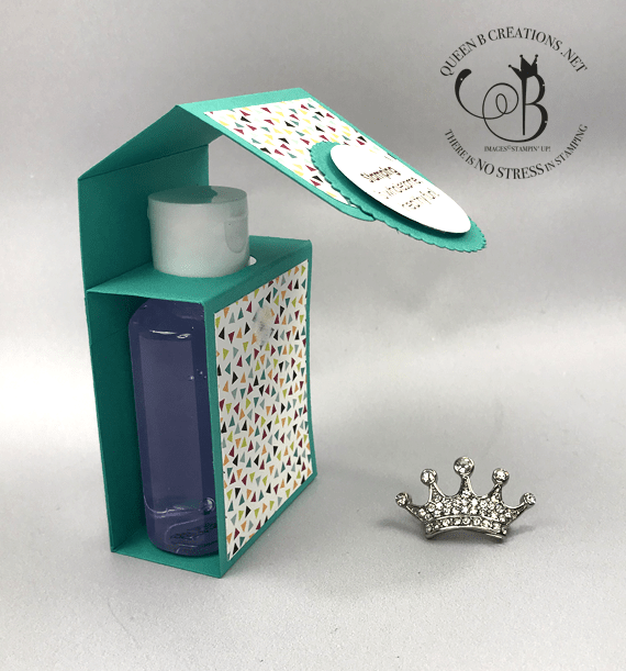 Stampin' Up! Stampin' Fun For Everyone 2006 stamp set hand santizer holder #OnStage2019 gifts for downline by Lisa Ann Bernard of Queen B Creations