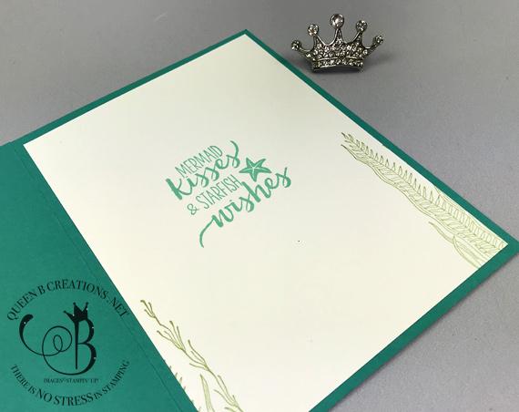 Stampin' Up! Magical Mermaid Bokeh Dots Stampin' Blends handmade card by Lisa Ann Bernard of Queen B Creations