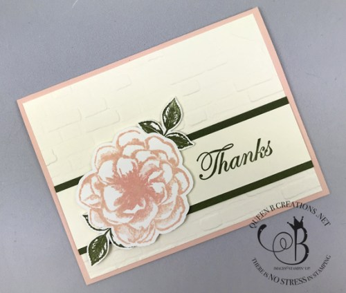 Stampin' Up! thanks card set April 2019 paper pumpkin alternative by Lisa Ann Bernard of Queen B Creations