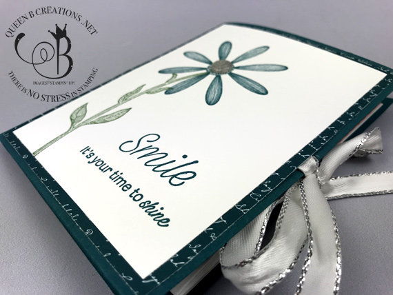 Stampin' Up! Daisy Lane 2019-2021 in-colors ginham notecard set with holder by Lisa Ann Bernard of Queen B Creations