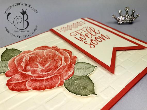 Stampin' Up! Healing Hugs Brick & Mortar embossing handmade get well card by Lisa Ann Bernard of Queen B Creations