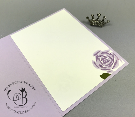 Stampin' Up! 2019-2021 in colors Abstract Impressions handmade thank you card by Lisa Ann Bernard of Queen B Creations Purple Posey