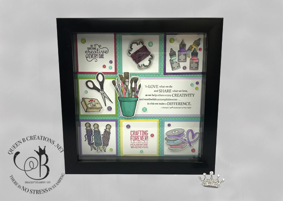 Stampin' Up! It Starts With Art Framed Sampler by Lisa Ann Bernard of Queen B Creations