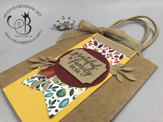 Stampin' Up! August 2019 Gift of FAll paper pumpkin alternatives by Lisa Ann Bernard of Queen B Creations