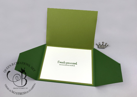 Stampin' Up! Gatefold Happy Birthday Card by Lisa Ann Bernard of Queen B Creations