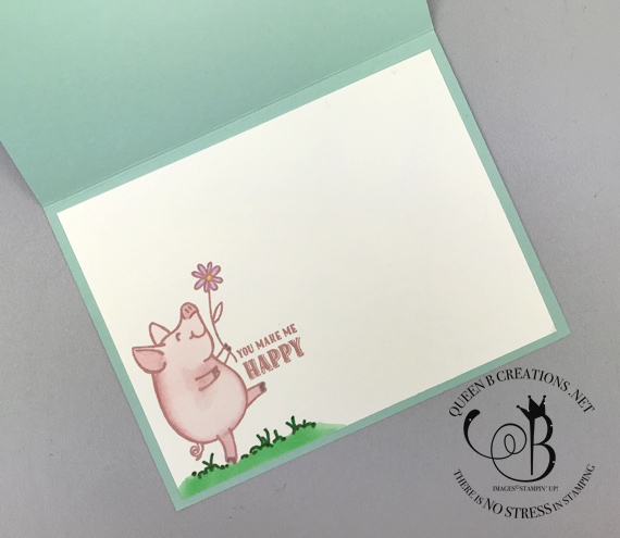 Stampin' Up! This Little Piggy Interactive Barn Door card by Lisa Ann Bernard of Queen B Creations