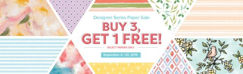Stampin' Up! Buy 3 get 1 FREE Designer Series Paper Stock Up & Save sale Purchase yours at www.QueenBCreations.net