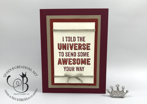Stampin' Up! Genuine Gems handmade encouragement card by Lisa Ann Bernard of Queen B Creations