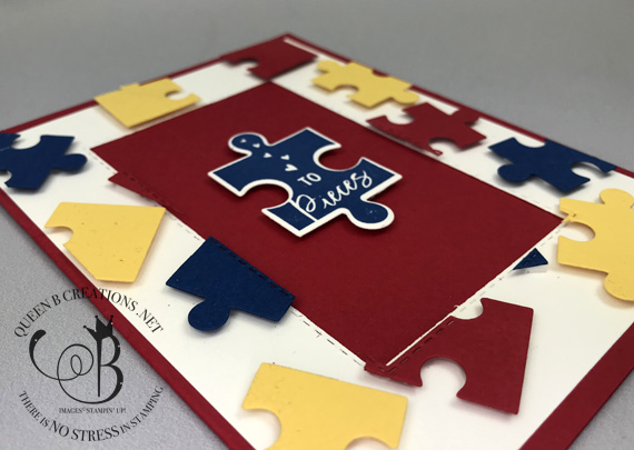 Stampin' Up! Love You to Pieces Floating Frame Technique blog post with video instructions by Lisa Ann Bernard of Queen B Creations