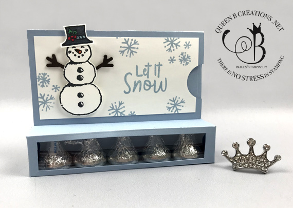 Stampin' Up! Snowman Season Hershey Kisses Gift Card Holder by Lisa Ann Bernard of Queen B Creations