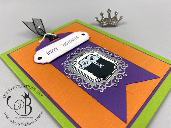 Stampin' Up! Spooktacular Bash Happy Halloween card by Lisa Ann Bernard of Queen B Creations