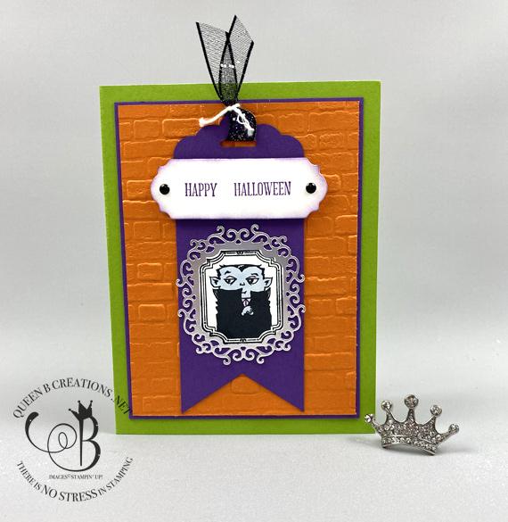 Stampin' Up! Spooktacular Bash Happy Halloween card by Lisa Ann Bernard of Queen B Creations