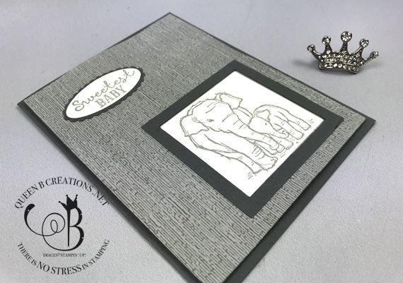 stampin up wildly happy sweetest baby card by Lisa Ann Bernard of Queen B Creations