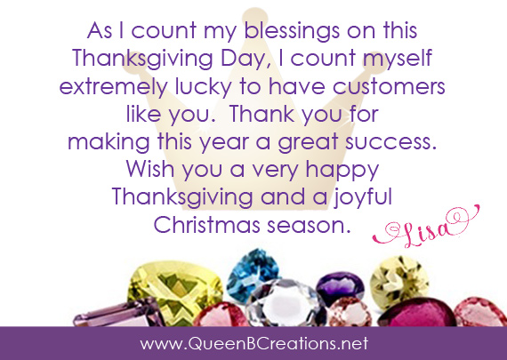 Happy Thanksgiving 2019 from Lisa Ann Bernard of Queen B Creations