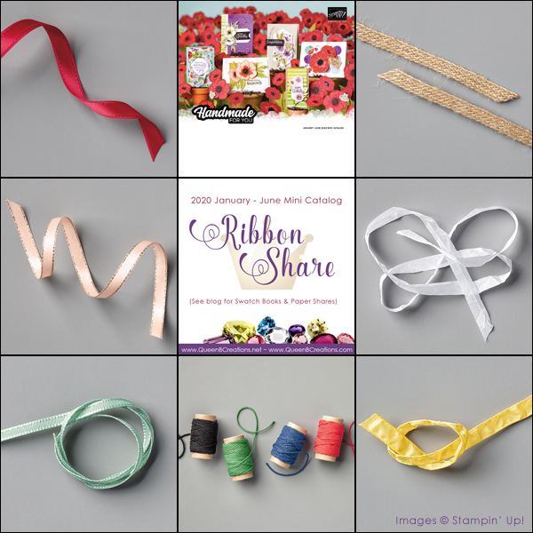 2020 Jan-Jun Mini Catalog Ribbon Share by Lisa Ann Bernard of Queen B Creations