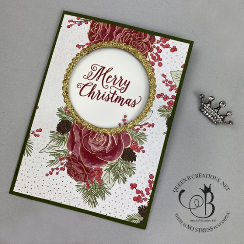 Stampin' Up! Christmastime is Here window card by Lisa Ann Bernard of Queen B Creations