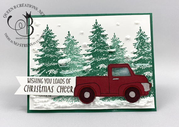 Stampin' Up! Winter Woods Ride With Me interactive magnetic slider Christmas card by Lisa Ann Bernard of Queen B Creations