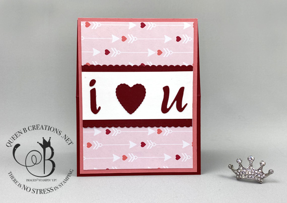 Stampin' Up! Meant to Be - Be Mine Valentine easel card by Lisa Ann Bernard of Queen B Creations